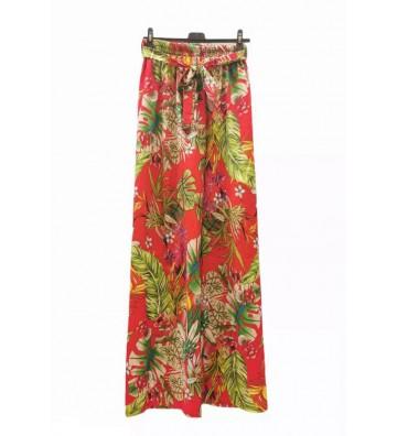 Pantalon large à imprimé