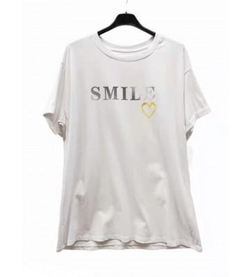 """T-shirt avec imprimé """"SMILE"""""""